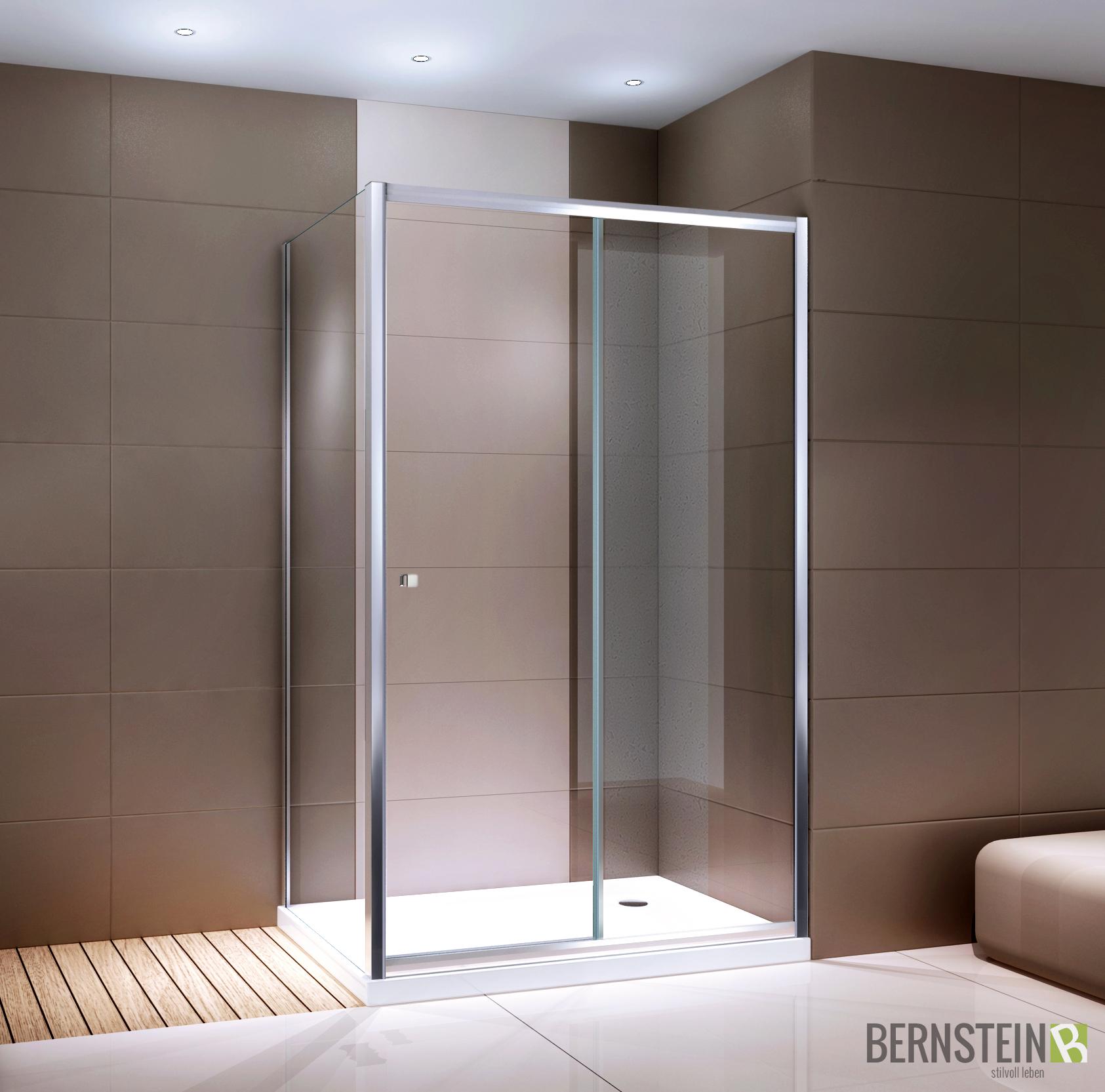 duschkabine eckdusche dusche mit schiebet r ex504bw klarglas 90x120x195cm ebay. Black Bedroom Furniture Sets. Home Design Ideas