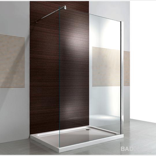 duschabtrennung walk in duschwand nano 10mm glas echtglas. Black Bedroom Furniture Sets. Home Design Ideas