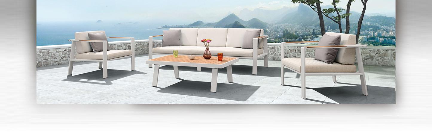 BERNSTEIN Aluminium Lounge Set Gartenlounge Gartensitzgruppe ...