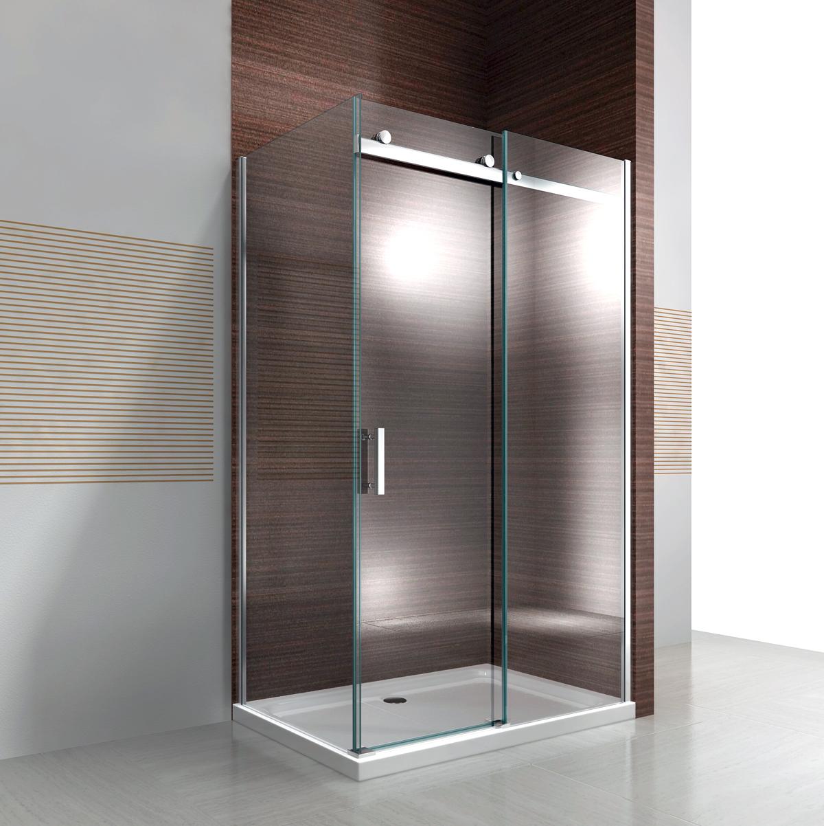 Duschkabine Duschabtrennung Schiebetür NANO ESG- Echtglas Glas 8mm x 1200x 900mm