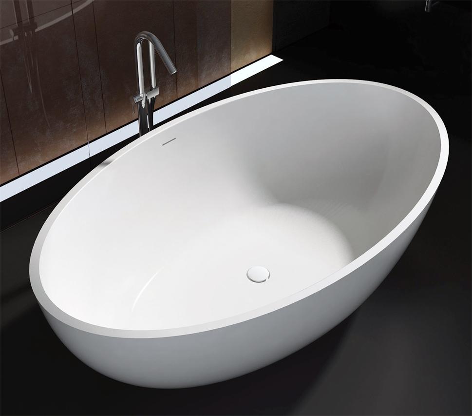 bernstein design badewanne freistehende wanne rio mineralguss armatur ebay. Black Bedroom Furniture Sets. Home Design Ideas