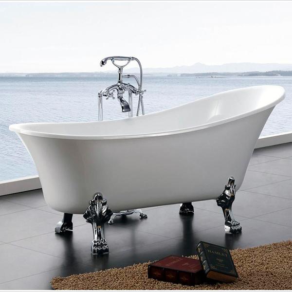 Baignoire lot baignoire r tro en acrylique sur pieds paris bs 830 ebay - Baignoire retro acrylique ...