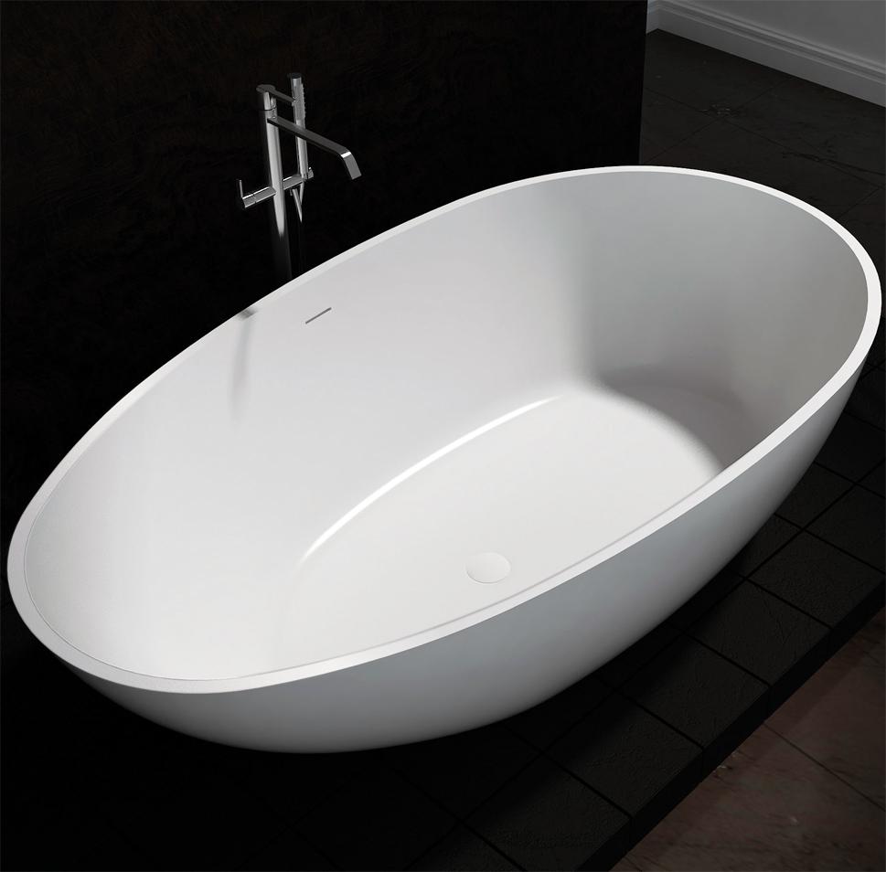 bernstein design badewanne freistehende wanne vela mineralguss armatur ebay. Black Bedroom Furniture Sets. Home Design Ideas