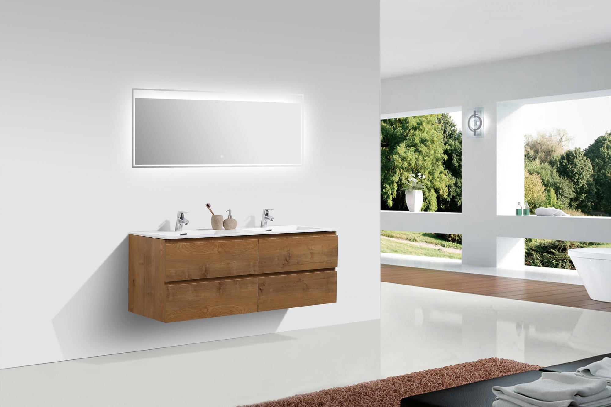 Mobili da bagno set alice lavandino doppio lavabo per - Lavandino doppio bagno ...