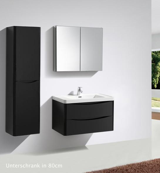 badm bel wei schwarz waschbecken unterschrank spiegelschrank led lichtspiegel ebay. Black Bedroom Furniture Sets. Home Design Ideas
