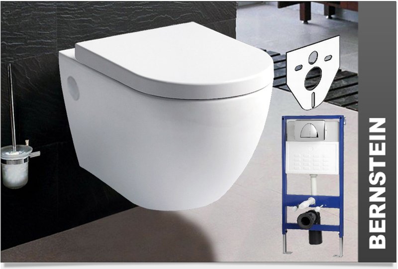 Wall hung toilet wall mounted softclose geberit for Geberit installation system