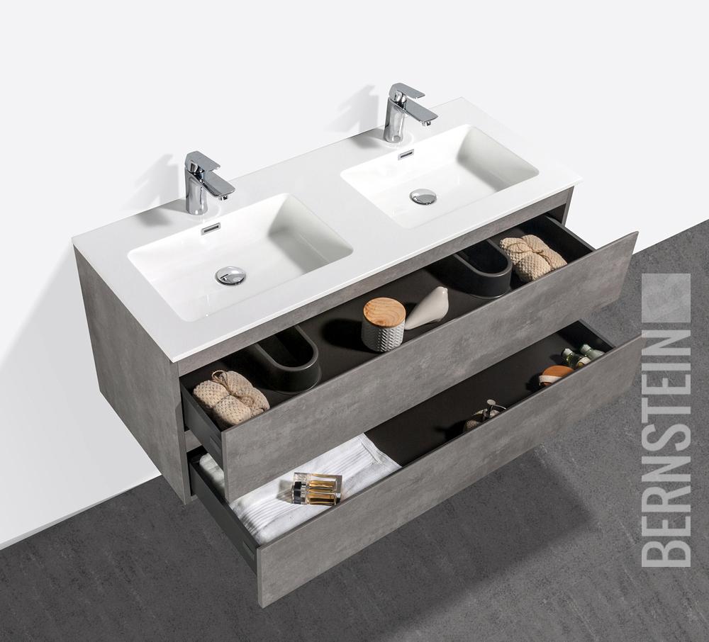 Specchio Per Lavandino Angolare dettagli su mobili da bagno alice calcestruzzo lavandino doppio lavabo per  stanza specchio