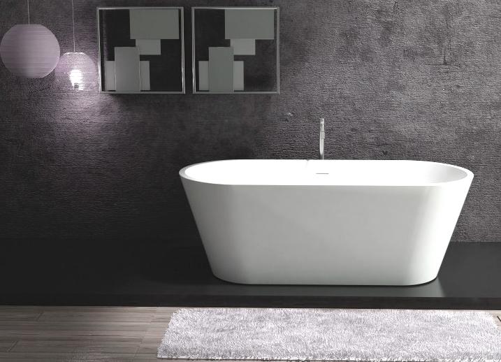 Vasca Da Bagno Pietra : Freestanding vasca bagno colata minerale almeria pietra bianco