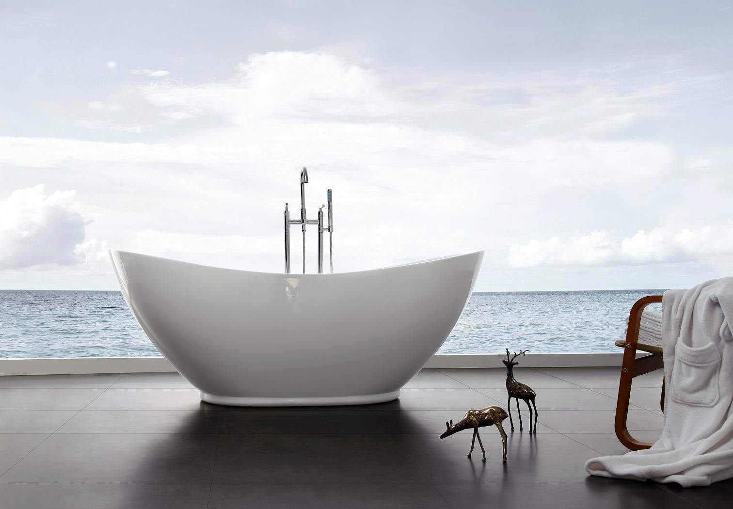 Details zu Freistehende Badewanne VALENZIA 175x85 inkl. Armatur