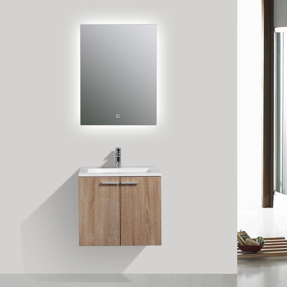 mobili da bagno Set sottopensile LAVABO per stanza rovere imbiancati ...
