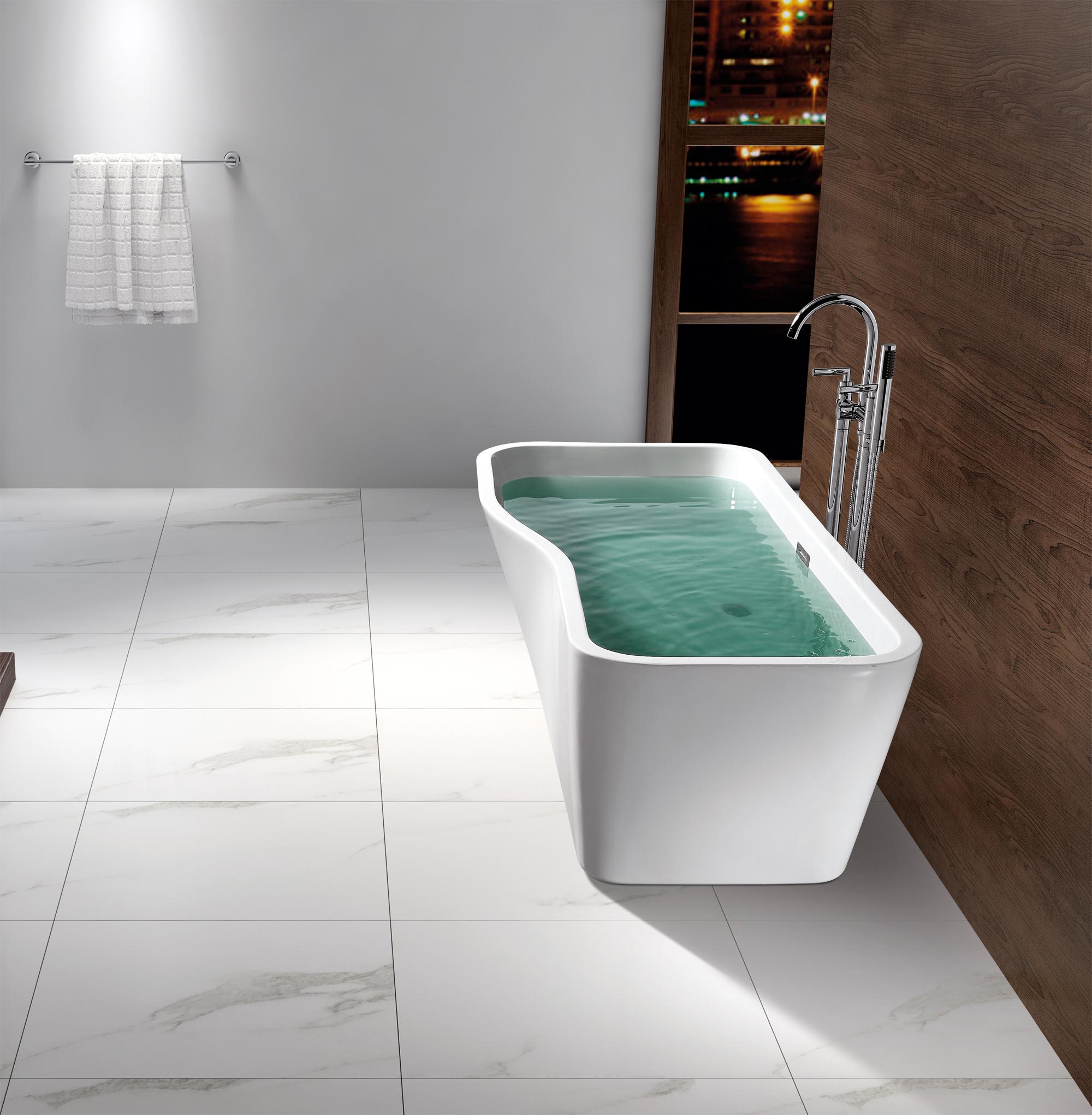 Vasca da bagno freestanding sylt rubinetti a scelta - Vasca da bagno freestanding ...