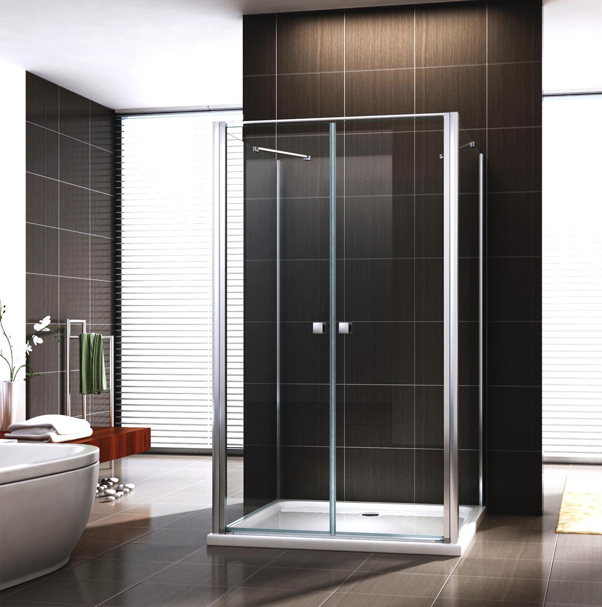 dusche duschkabine u form ex 416 3 duschabtrennung nano esg glas ebay. Black Bedroom Furniture Sets. Home Design Ideas