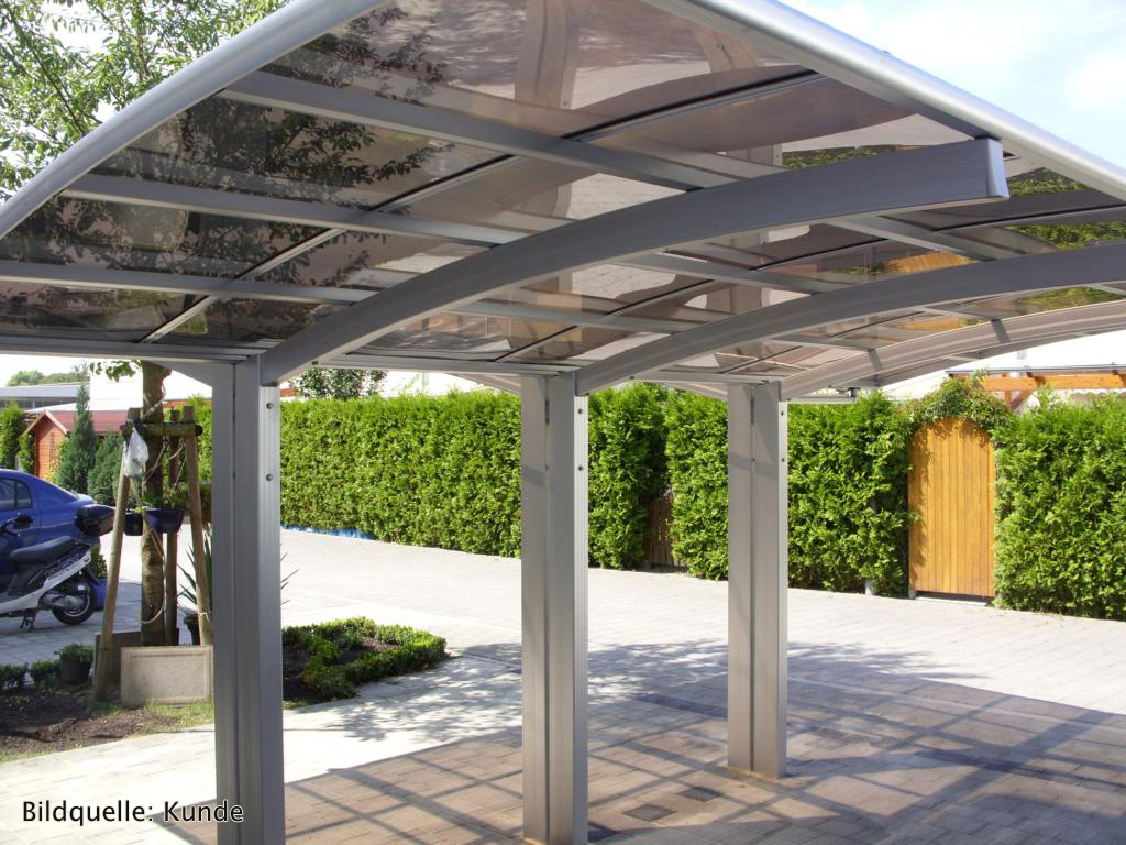 bernstein carport aluminium pulverbeschichtet 5400 x 2700 x 2700 mm freistehend ebay. Black Bedroom Furniture Sets. Home Design Ideas