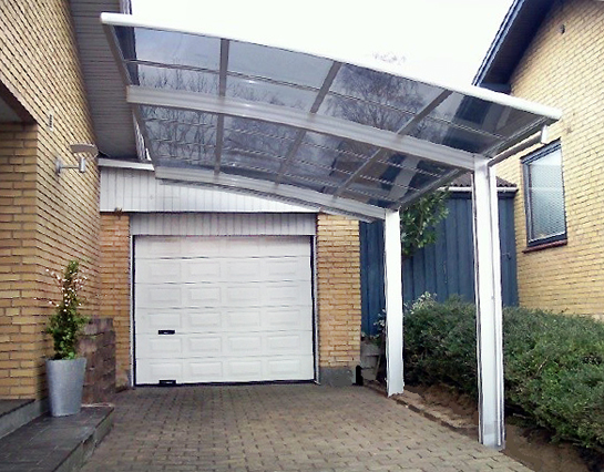 BERNSTEIN Carport Aluminium pulverbeschichtet 5400 x 2700 x 2700 mm ...