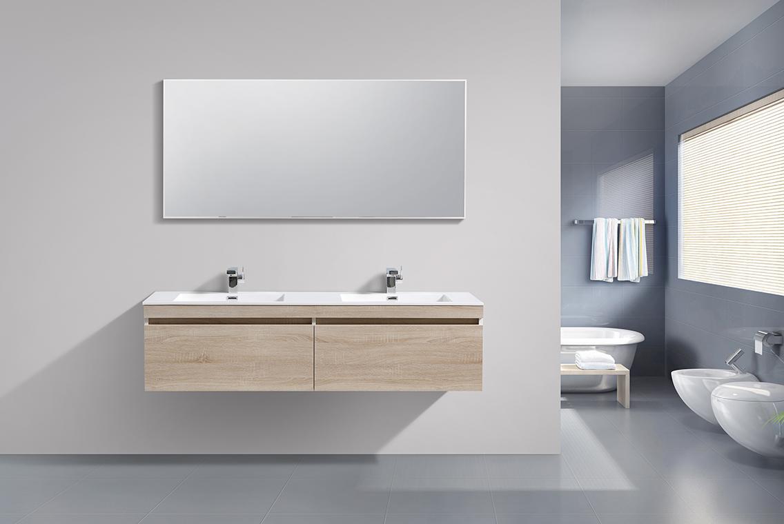 Mobili da bagno set quercia sottopensile lavabo per stanza pagina