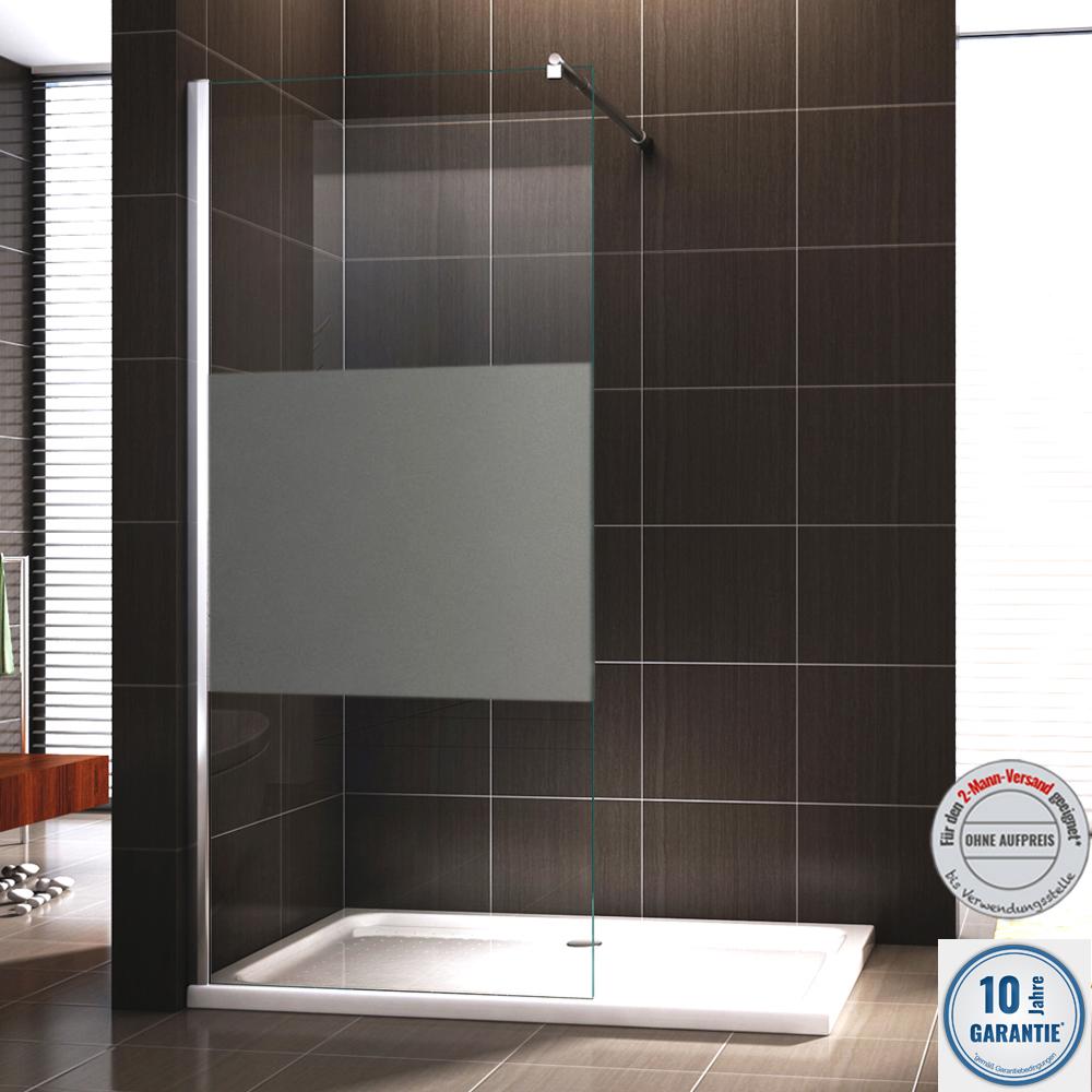 Walk In Dusche Duschabtrennung Duschwand Duschtrennwand Nano Glas ...