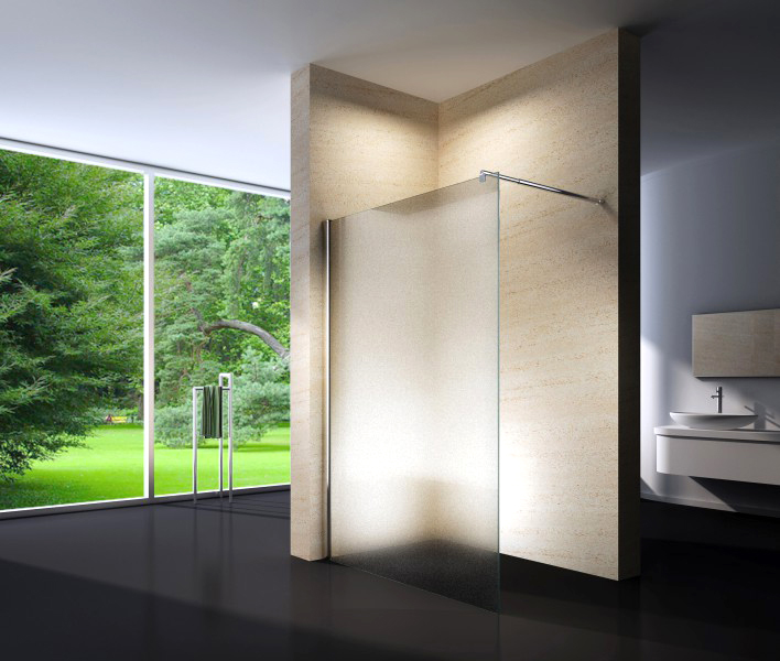 duschabtrennung walk in nano echtglas ex101 milchglas breite w hlbar ebay. Black Bedroom Furniture Sets. Home Design Ideas
