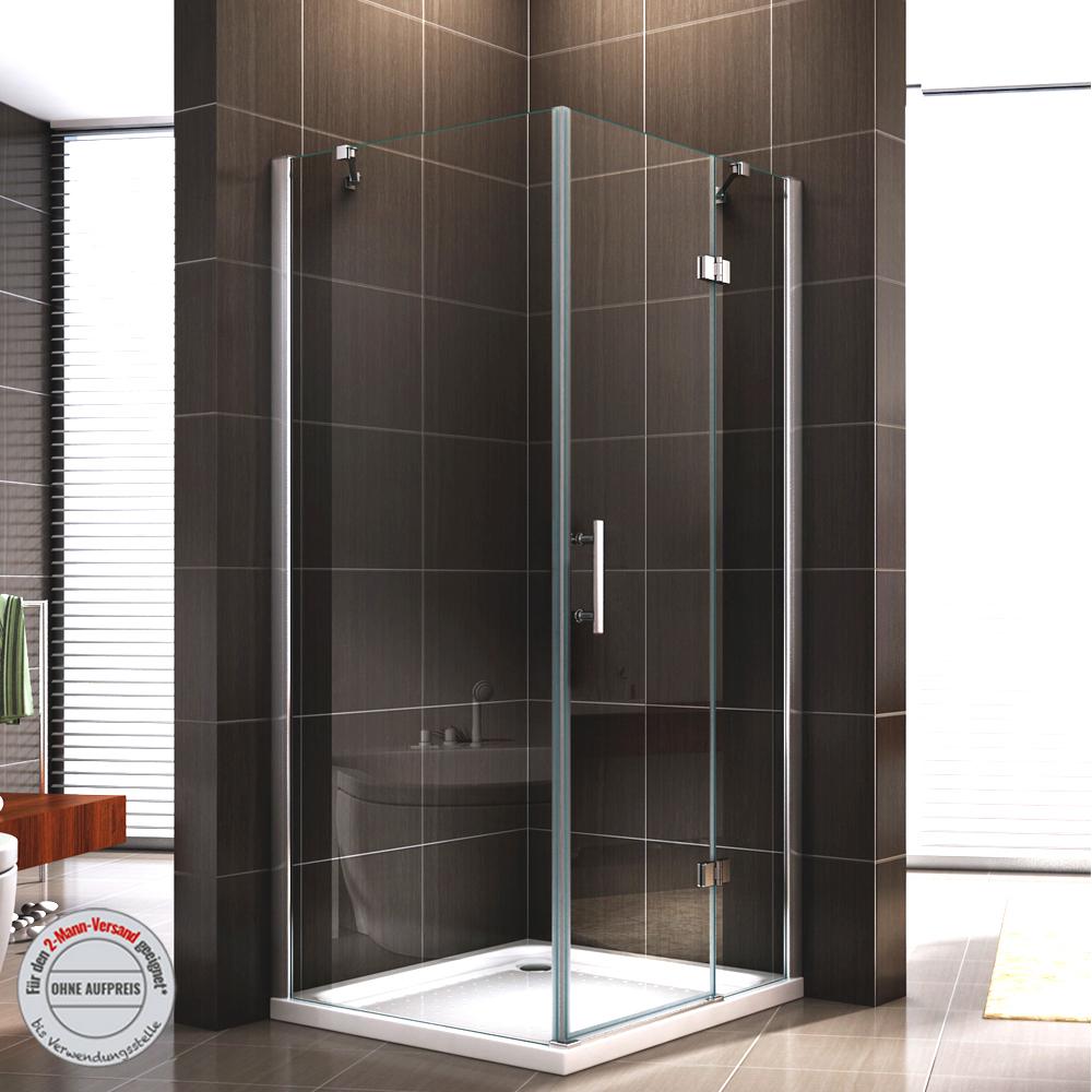 duschkabine 403 duschabtrennung dusche rechteck nano esg echtglas 8mm glas 195cm ebay. Black Bedroom Furniture Sets. Home Design Ideas