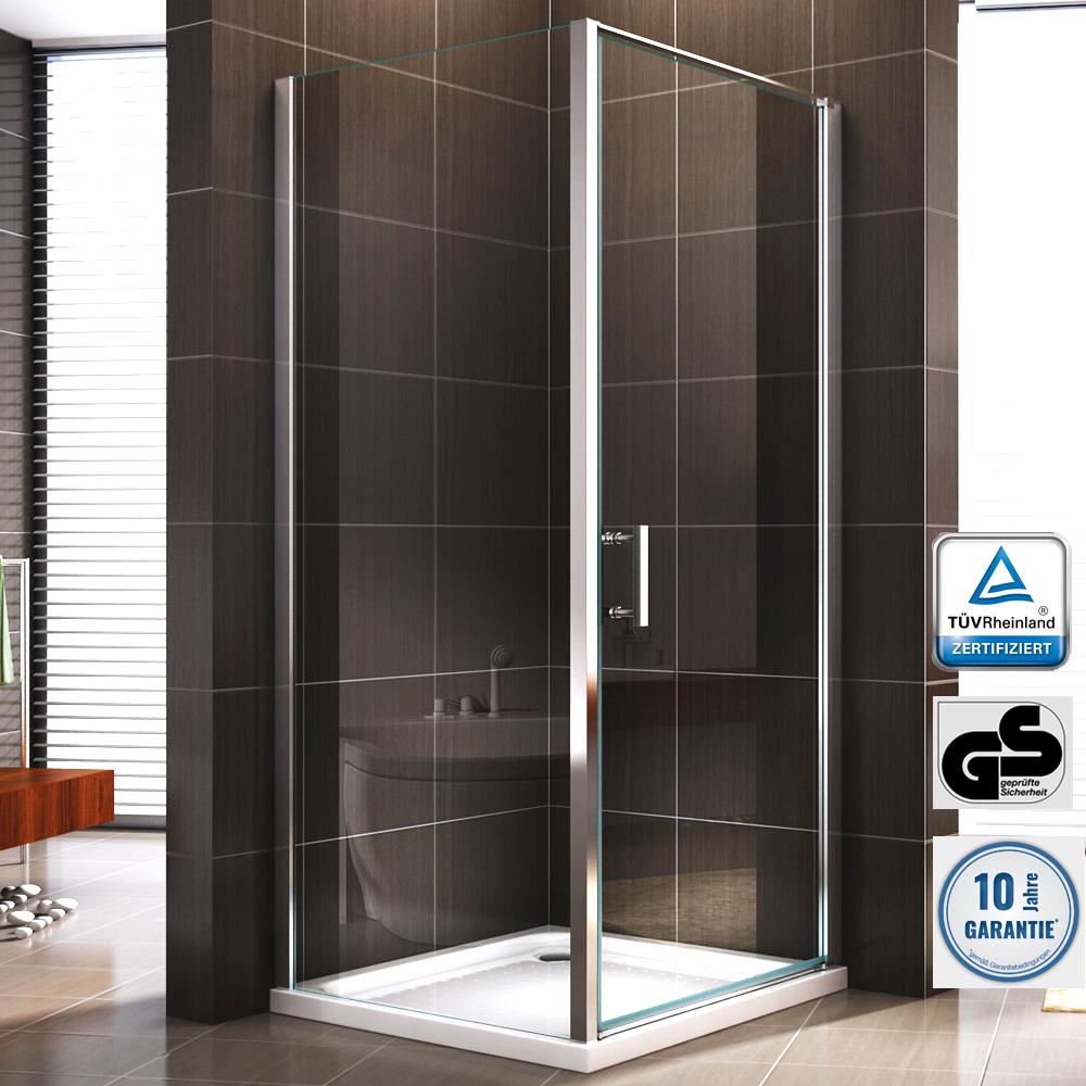 duschkabine duschabtrennung dusche rechteck nano esg echtglas glas 195cm. Black Bedroom Furniture Sets. Home Design Ideas