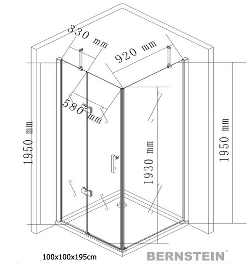 Cabina de ducha 403 rect ngulo nano vidrio esg 8mm cristal - Cabina ducha rectangular ...