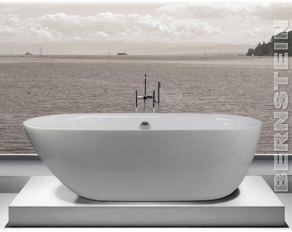 bernstein design badewanne freistehende wanne roma acryl armatur ebay. Black Bedroom Furniture Sets. Home Design Ideas