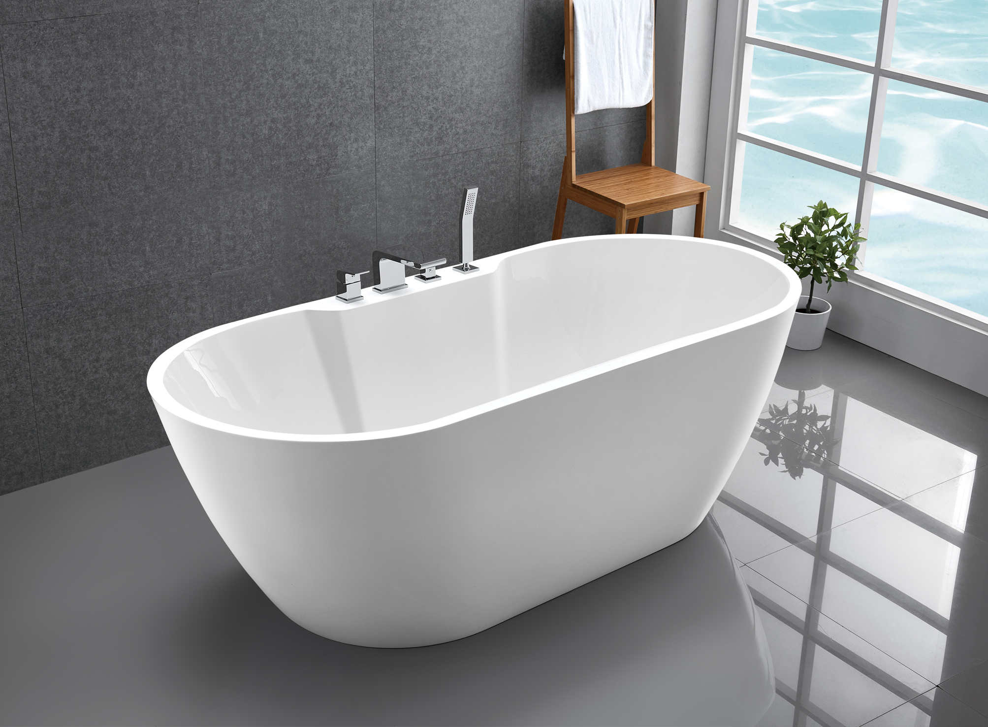 freistehende badewanne standbadewanne acryl jazz plus wei 170 x 80 cm armatur ebay. Black Bedroom Furniture Sets. Home Design Ideas