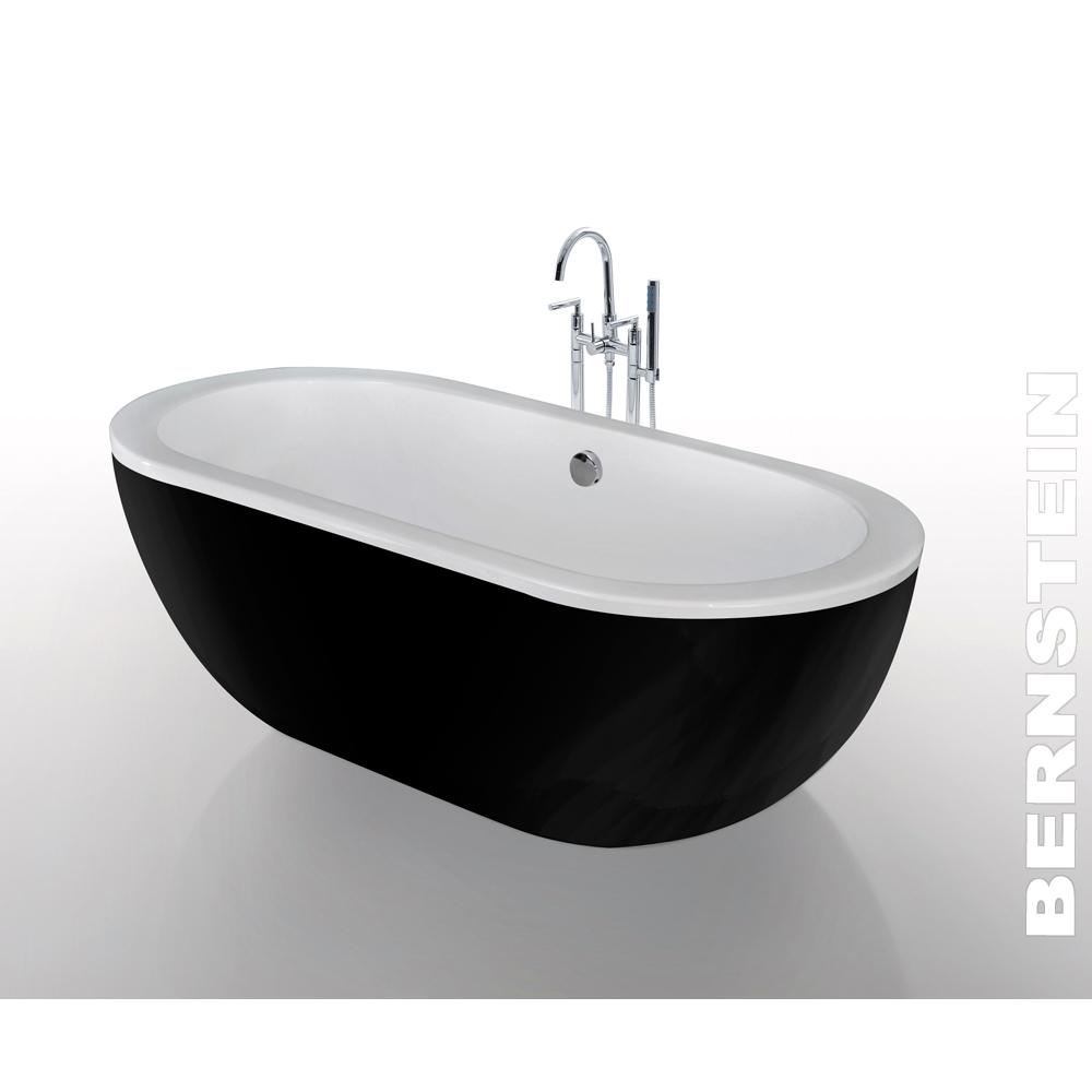freistehende badewanne jazz acryl schwarz 173x78 inkl. Black Bedroom Furniture Sets. Home Design Ideas