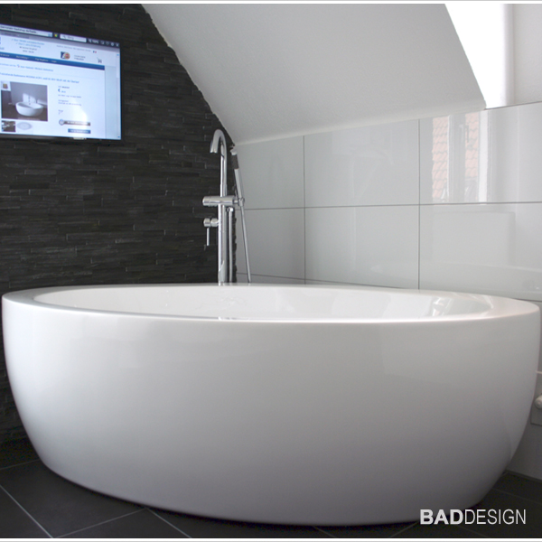 bernstein design badewanne freistehende wanne modena acryl armatur ebay. Black Bedroom Furniture Sets. Home Design Ideas