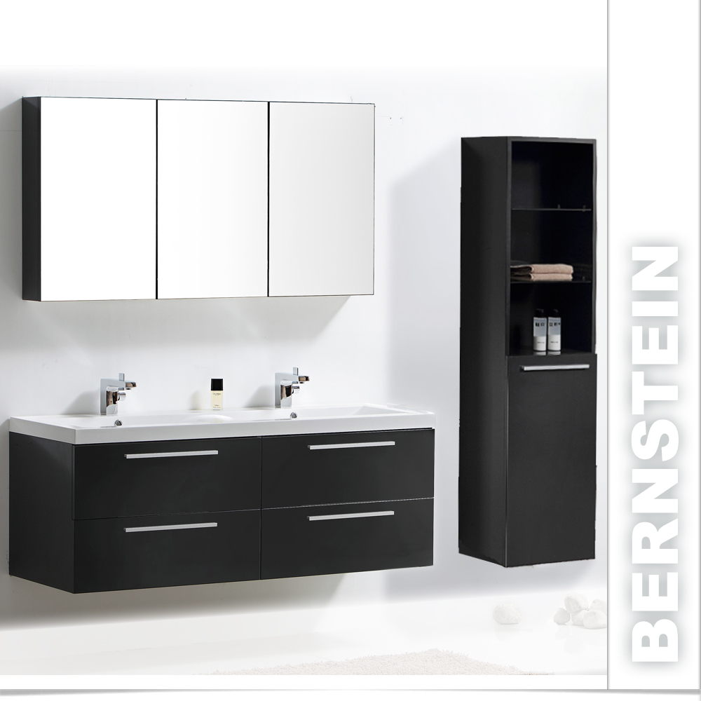 badm bel set doppelwaschbecken badezimmerm bel xxl spiegel wei walnuss ebay. Black Bedroom Furniture Sets. Home Design Ideas