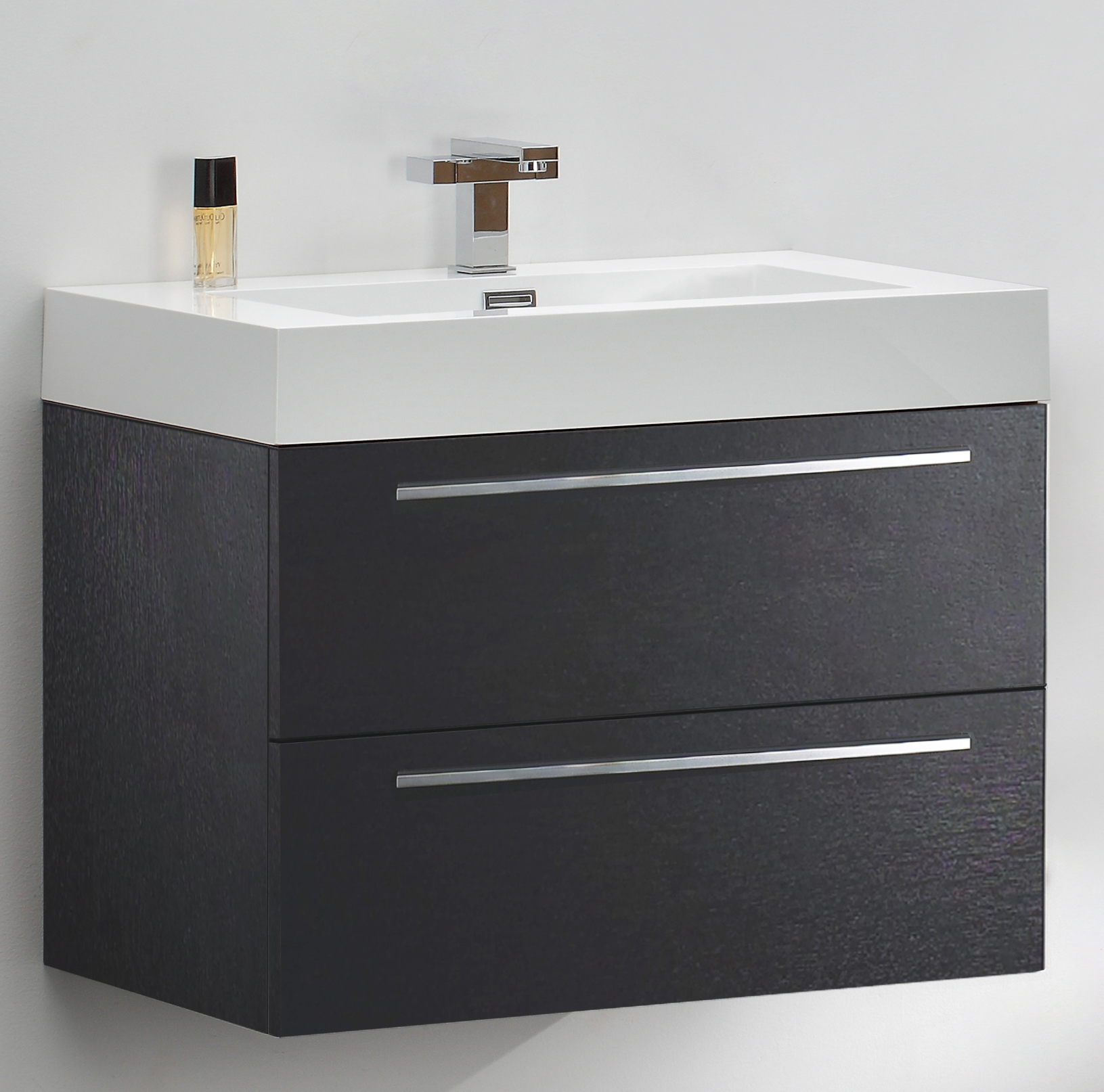 meuble de salle de bain t730 noir lavabo et meuble sous. Black Bedroom Furniture Sets. Home Design Ideas