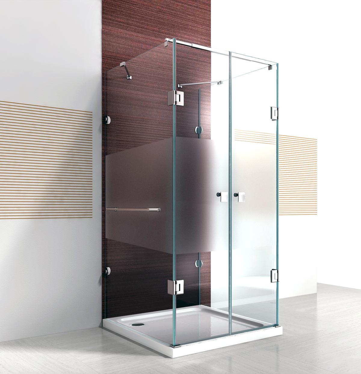 Verschiedene Duschabtrennung Milchglas Galerie Von Duschkabine U Form Mit Nano Echtglas Ex412