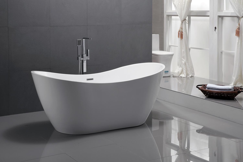 Vasca Da Bagno Troppo Lunga : Vasca da bagno indipendente acrilico viena bianco cm ebay