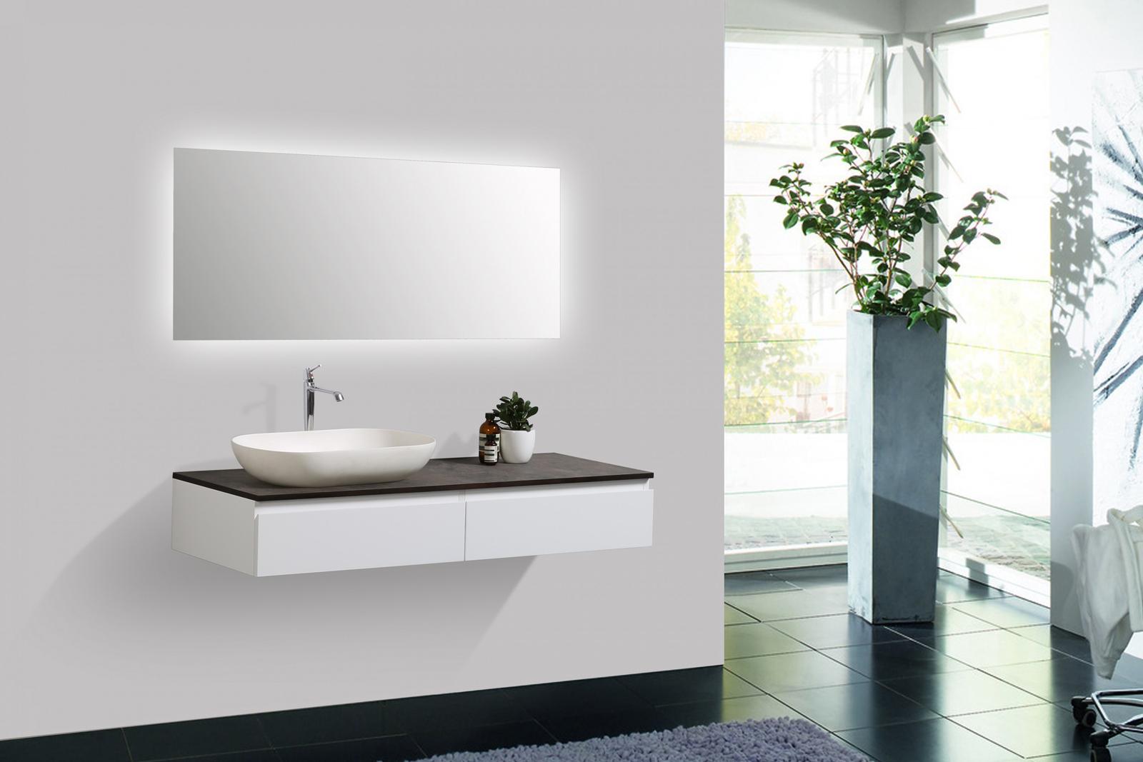 badm bel vision 120 cm wei spiegel aufsatzwaschbecken unterschrank waschtisch ebay. Black Bedroom Furniture Sets. Home Design Ideas