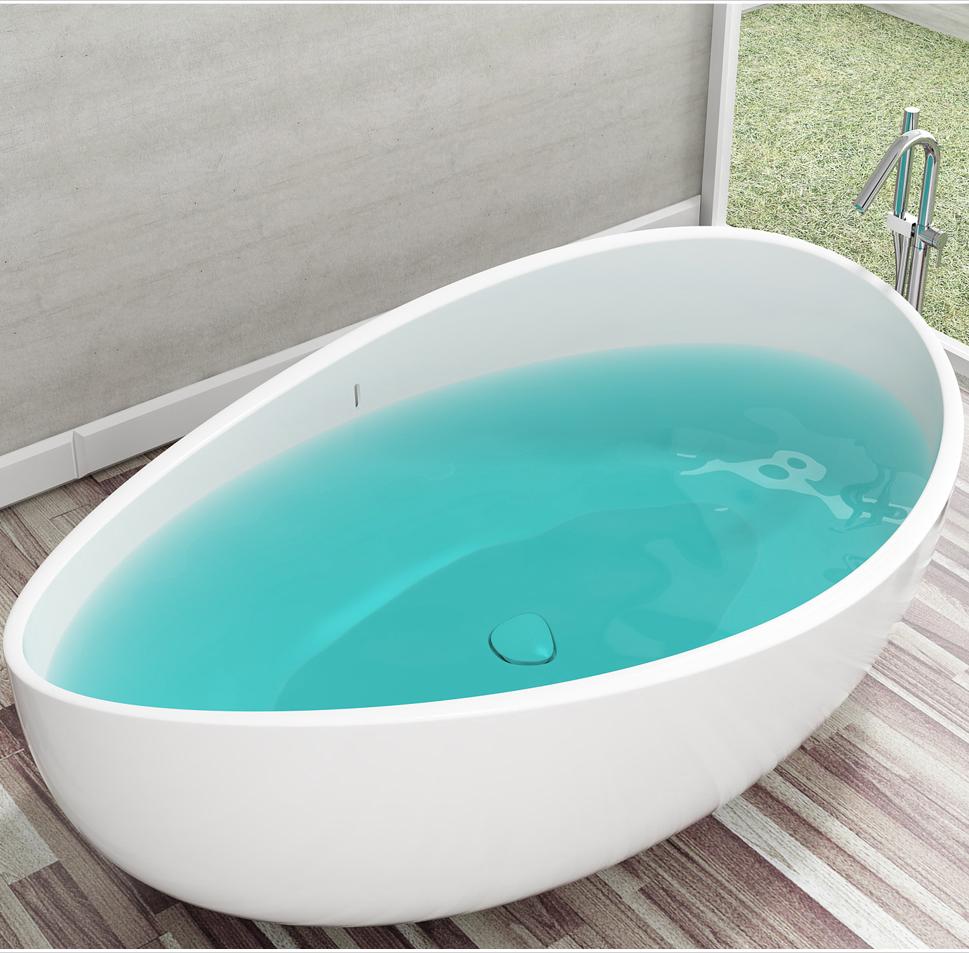 bernstein design badewanne freistehende wanne wave mineralguss waschbecken ebay. Black Bedroom Furniture Sets. Home Design Ideas