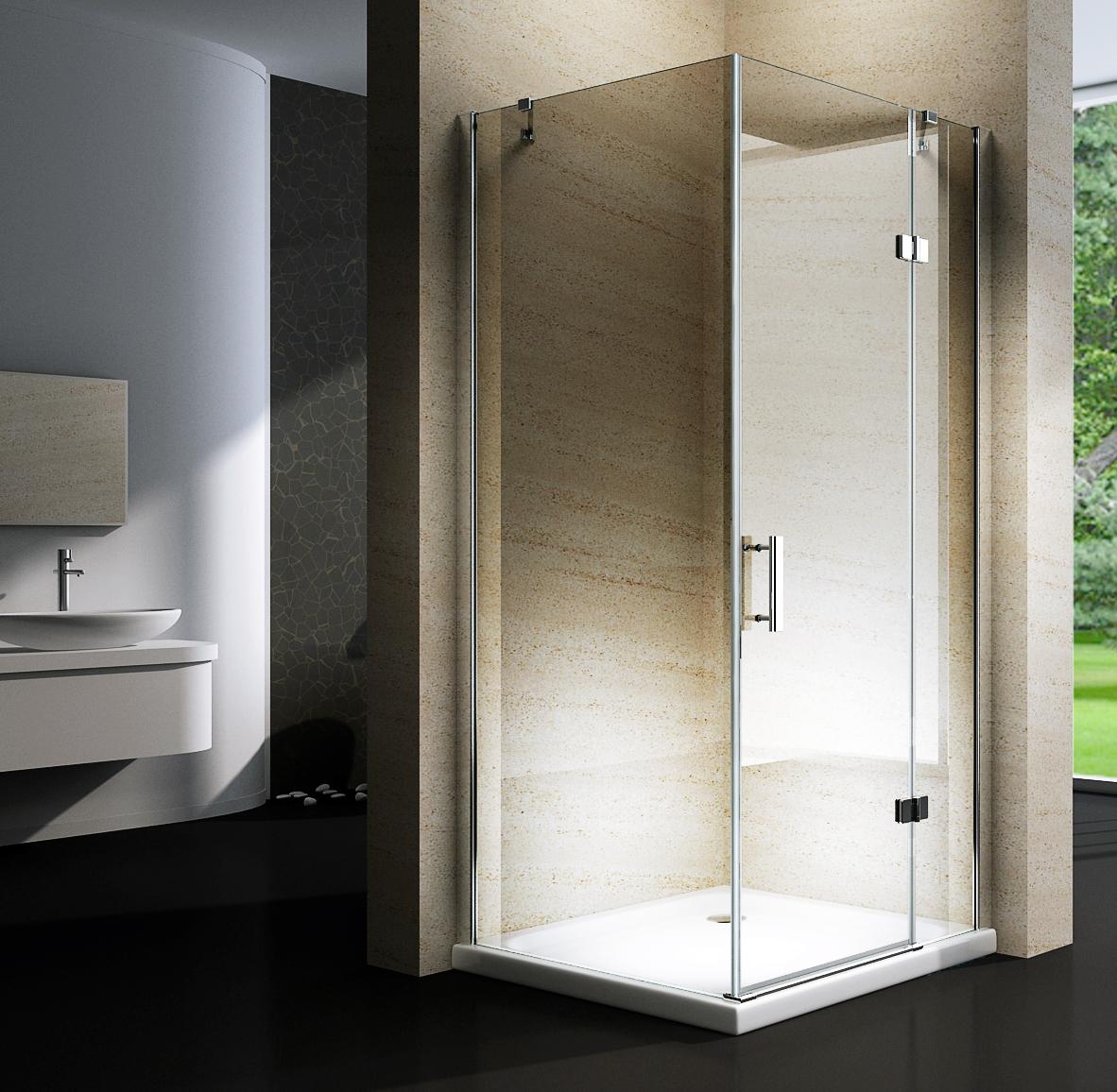 Cabina doccia angolare box doccia ex403 nano 8mm con senza piatto doccia ebay - Cabina doccia senza piatto ...