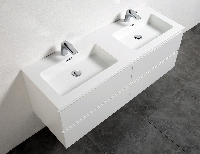 Mobili da bagno set alice lavandino doppio lavabo per stanza led