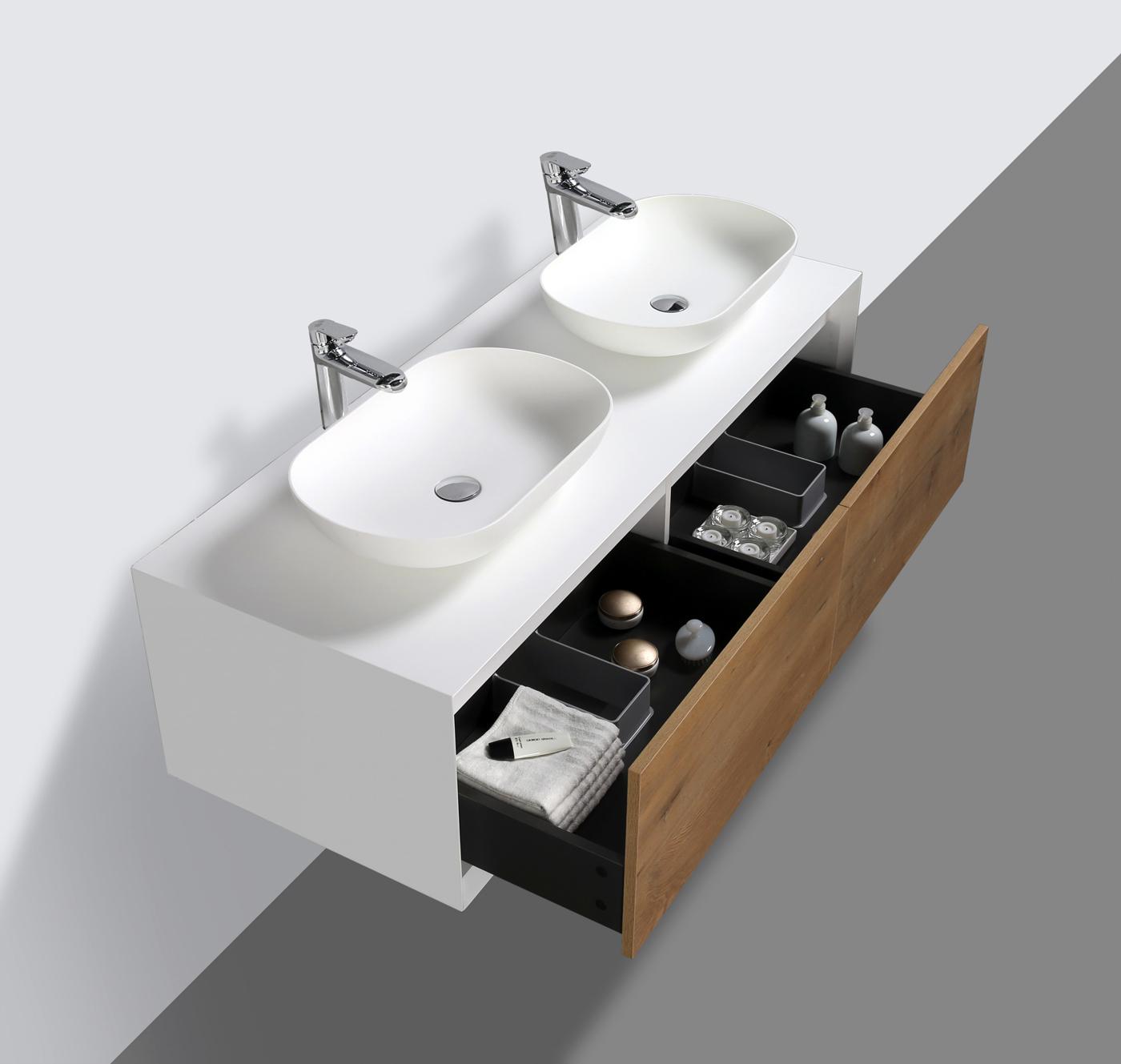 badm bel 140 cm eiche led spiegel aufsatzwaschbecken unterschrank waschtisch ebay. Black Bedroom Furniture Sets. Home Design Ideas
