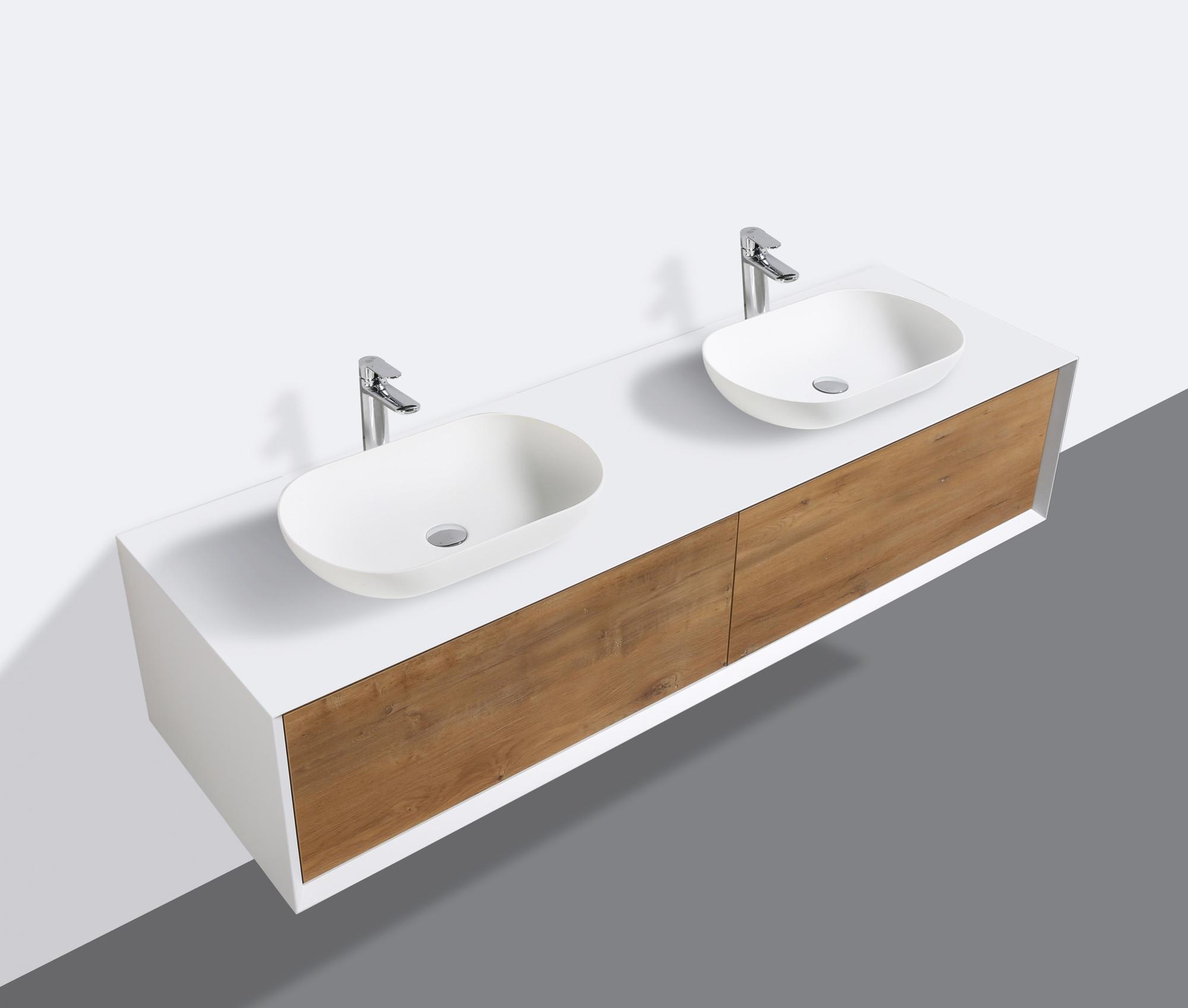 badmoebel  cm eiche led spiegel aufsatzwaschbecken