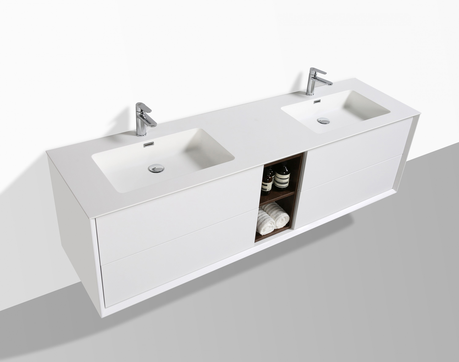 Tappo Della Vasca Da Bagno In Inglese : Mobili da bagno set lavandino doppio lavabo bianco opaco