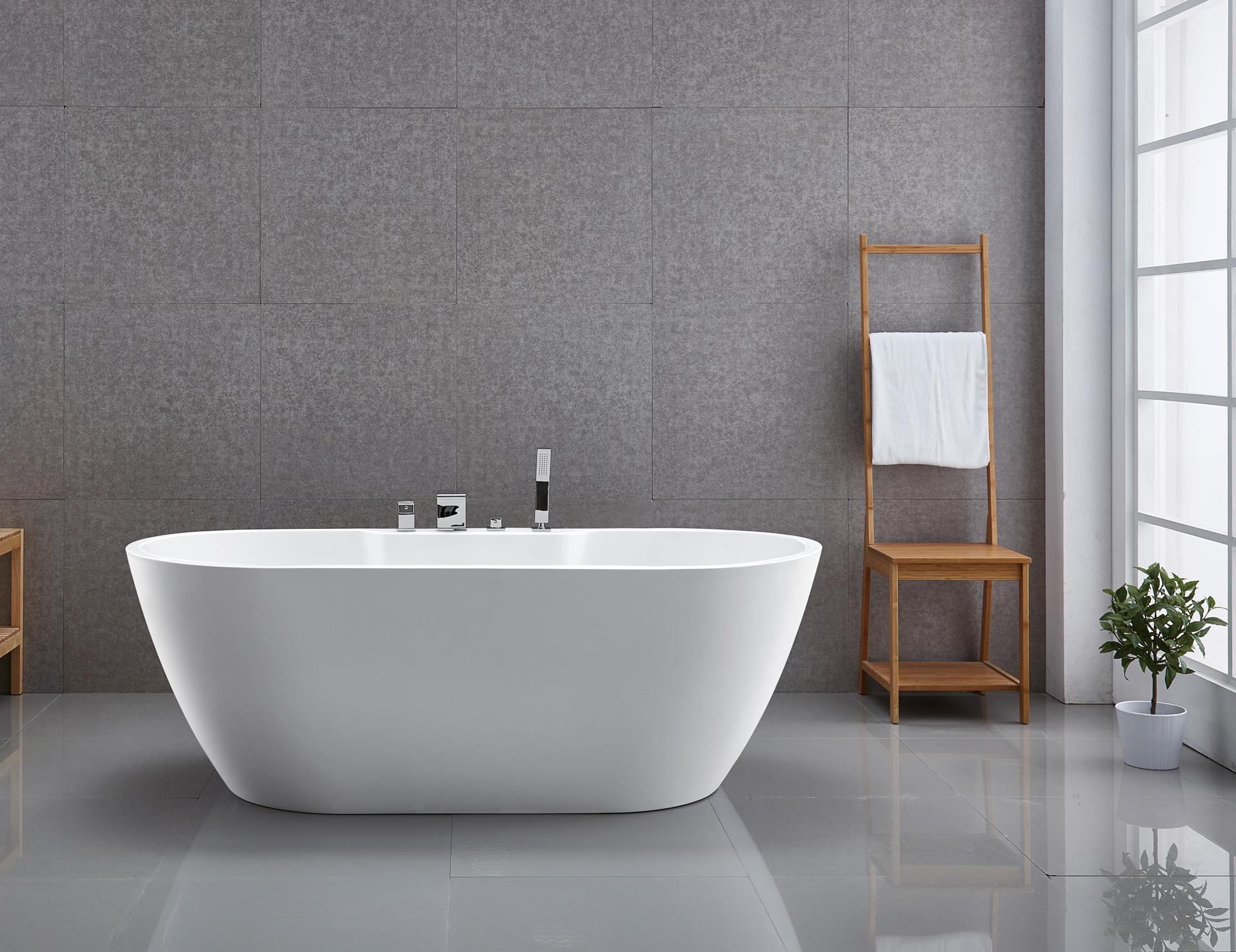 Vasca da bagno indipendente standbadewanne acrilico jazz - Materiale vasca da bagno ...