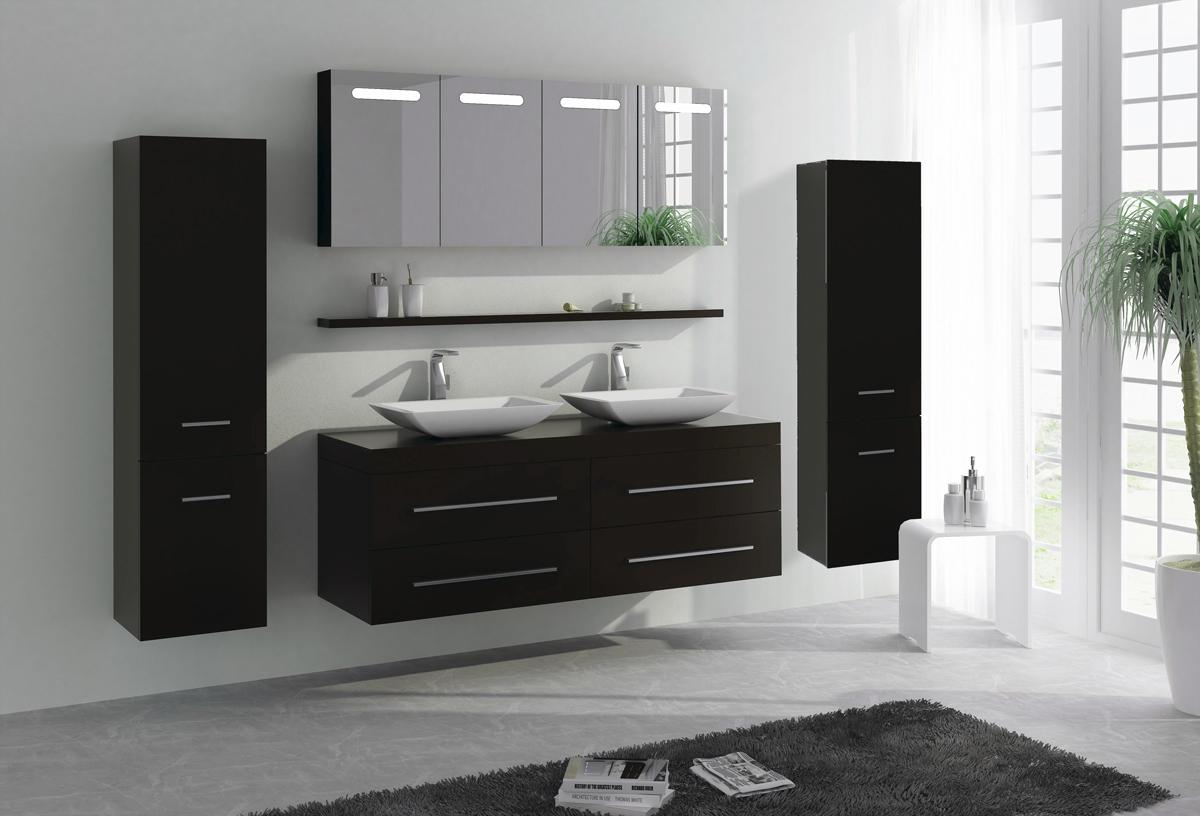 XXL Badmöbel Badezimmer 160cm Aufsatzwaschbecken Spiegelschrank