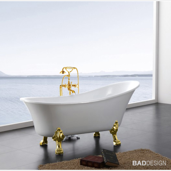 Vasca da bagno freestanding paris rubinetti piedi a scelta scarico troppo pieno ebay - Vasca da bagno con piedi ...