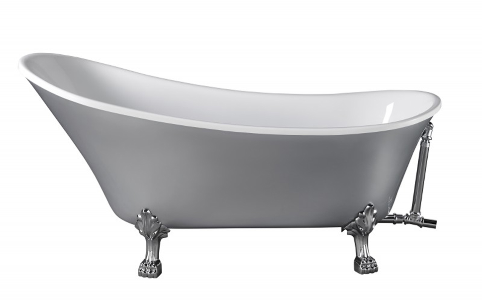 bernstein design badewanne retro freistehende wanne paris acryl grau armatur ebay. Black Bedroom Furniture Sets. Home Design Ideas