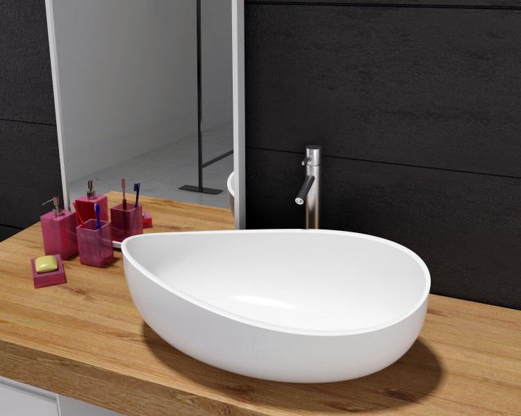 aufsatzbecken waschbecken design waschbecken waschtisch mineralguss stein pb2001 ebay. Black Bedroom Furniture Sets. Home Design Ideas