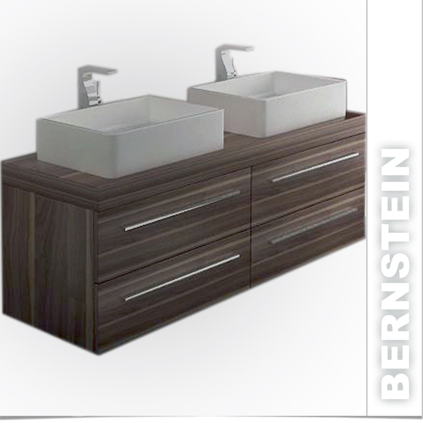badm bel set doppelwaschbecken waschtisch badezimmerm bel spiegelschrank walnuss ebay. Black Bedroom Furniture Sets. Home Design Ideas