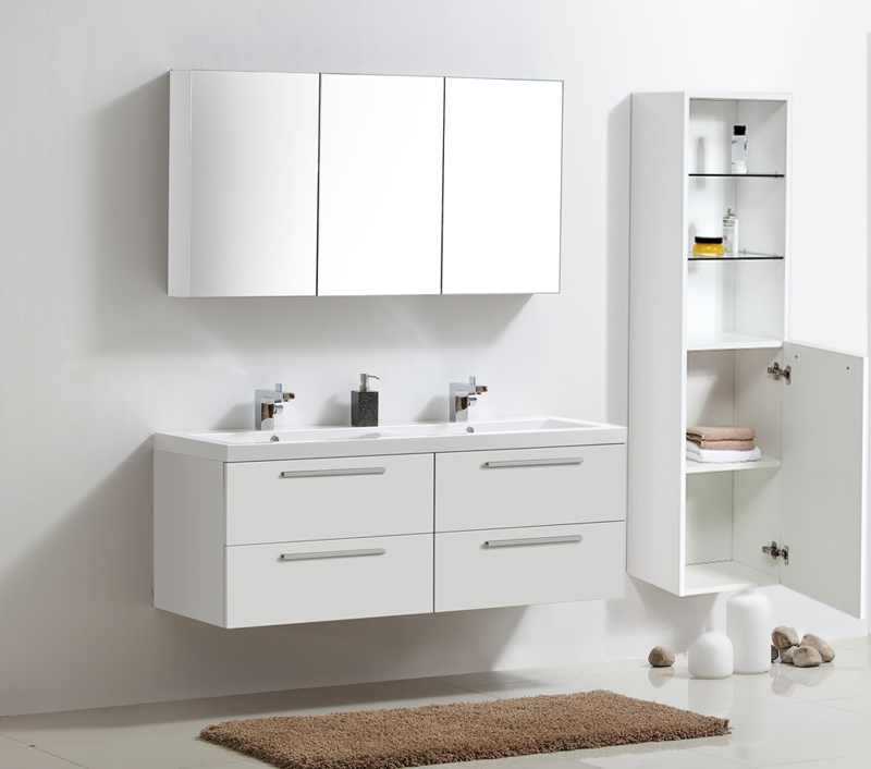 Mobili da bagno set doppio lavabo per stanza specchio for Bagno y bagno gr