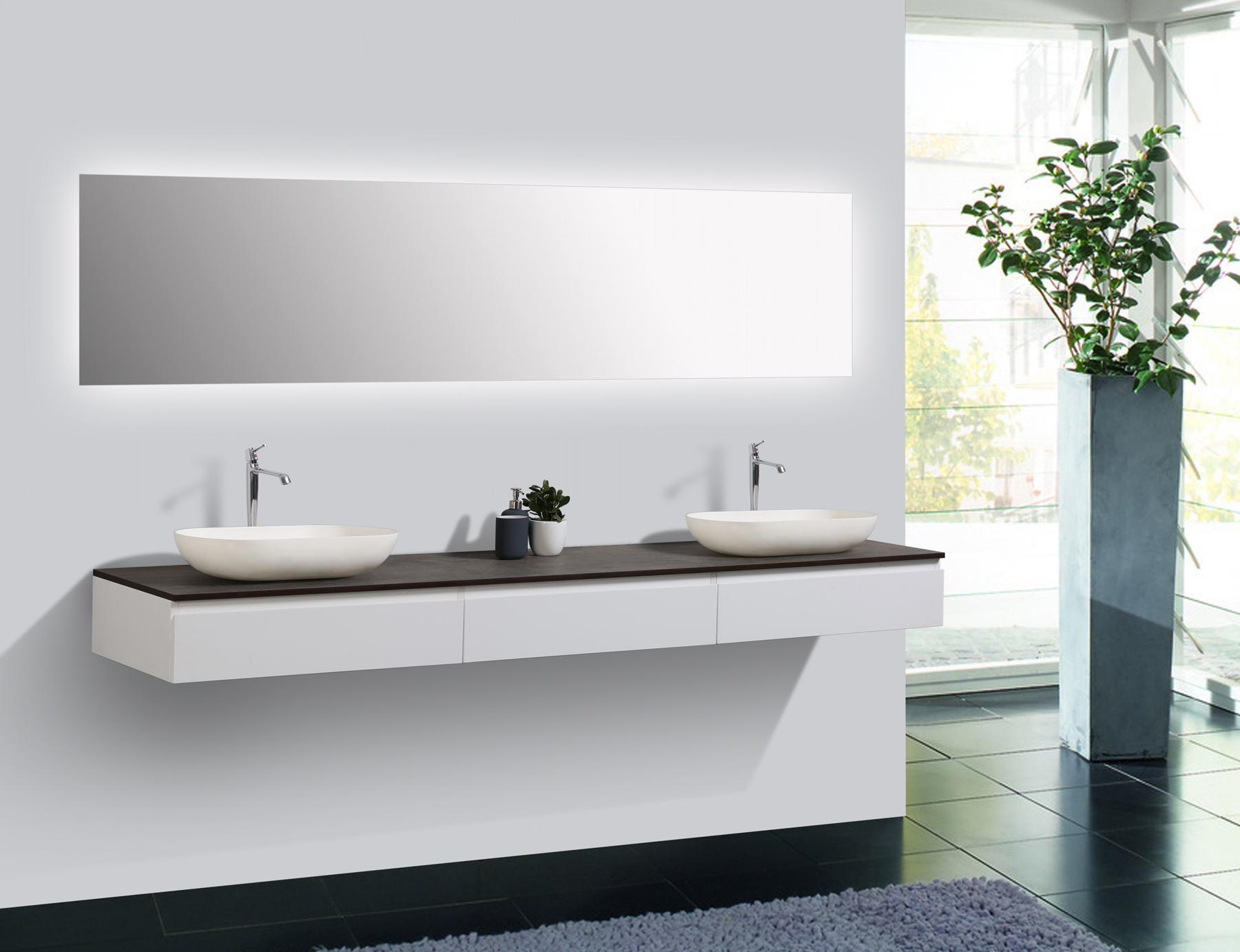 badm bel vision 2250 wei matt aufsatzwaschbecken optional ebay. Black Bedroom Furniture Sets. Home Design Ideas
