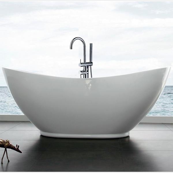 Vasca da bagno freestanding valenzia 936 con rubinetteria 8028 for Vasca da bagno freestanding