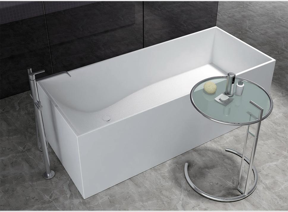 bernstein design badewanne freistehende wanne luna mineralguss armatur ebay. Black Bedroom Furniture Sets. Home Design Ideas