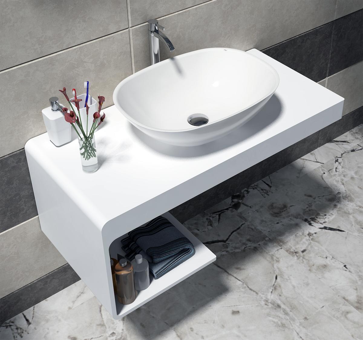 waschtischkonsole waschbecken waschtischplatte aufsatzwaschtisch waschtisch set ebay. Black Bedroom Furniture Sets. Home Design Ideas